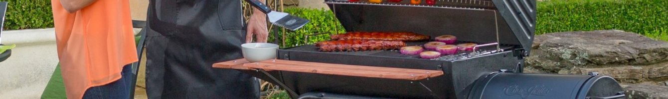 Party around food smoker